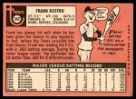 1969 Topps #242  Frank Kostro  Back Thumbnail