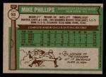 1976 Topps #93  Mike Phillips  Back Thumbnail