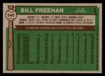 1976 Topps #540  Bill Freehan  Back Thumbnail