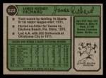 1974 Topps #522  J.R. Richard  Back Thumbnail