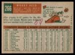 1959 Topps #266  Woodie Held  Back Thumbnail
