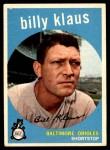 1959 Topps #299  Billy Klaus  Front Thumbnail