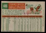 1959 Topps #486  Sammy White  Back Thumbnail