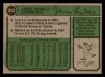 1974 Topps #342  Jim Lonborg  Back Thumbnail