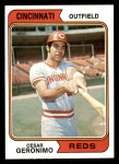 1974 Topps #181  Cesar Geronimo  Front Thumbnail