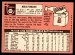 1969 Topps #83  Mike Ferraro  Back Thumbnail