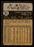 1973 Topps #261  Pat Kelly  Back Thumbnail