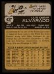 1973 Topps #627  Luis Alvarado  Back Thumbnail