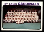 1973 Topps #219   Cardinals Team Front Thumbnail