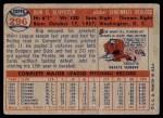 1957 Topps #296  Johnny Klippstein  Back Thumbnail