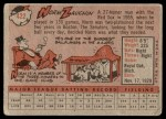 1958 Topps #422  Norm Zauchin  Back Thumbnail