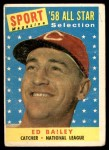 1958 Topps #490   -  Ed Bailey All-Star Front Thumbnail