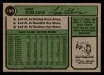 1974 Topps #190  Tony Oliva  Back Thumbnail