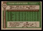 1976 Topps #432  Tom Veryzer  Back Thumbnail