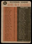 1962 Topps #54   -  Orlando Cepeda / Willie Mays / Frank Robinson NL HR Leaders Back Thumbnail