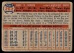 1957 Topps #262  Bobby Thomson  Back Thumbnail