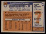 1976 Topps #246  Larry Schreiber  Back Thumbnail