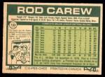 1977 O-Pee-Chee #143  Rod Carew  Back Thumbnail