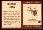 1967 Philadelphia #61   Detroit Lions Team Back Thumbnail
