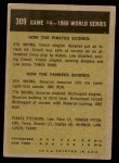1961 Topps #309   -  Gino Cimoli 1960 World Series - Game #4 - Cimoli Safe in Critical Play Back Thumbnail