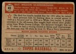 1952 Topps #43  Ray Scarborough  Back Thumbnail