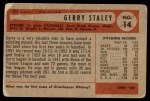 1954 Bowman #14  Gerry Staley  Back Thumbnail
