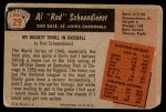 1955 Bowman #29  Red Schoendienst  Back Thumbnail