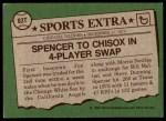1976 Topps Traded #83 T Jim Spencer  Back Thumbnail