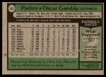1979 Topps #263  Oscar Gamble  Back Thumbnail