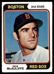 1974 Topps #495  Dick McAuliffe  Front Thumbnail