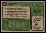 1974 Topps #536  Duffy Dyer  Back Thumbnail