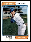 1974 Topps #536  Duffy Dyer  Front Thumbnail
