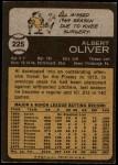 1973 Topps #225  Al Oliver  Back Thumbnail
