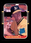 1987 Donruss #46  Mark McGwire  Front Thumbnail