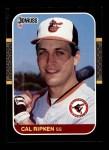 1987 Donruss #89  Cal Ripken Jr.  Front Thumbnail
