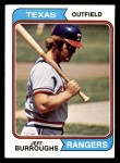 1974 Topps #223  Jeff Burroughs  Front Thumbnail