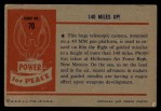 1954 Bowman Power for Peace #70   140 Miles Up! Back Thumbnail