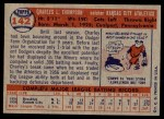 1957 Topps #142  Charley Thompson  Back Thumbnail
