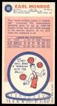 1969 Topps #80  Earl Monroe  Back Thumbnail