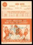 1963 Topps #11  Bob Boyd  Back Thumbnail