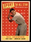 1958 Topps #477   -  Bill Skowron All-Star Front Thumbnail