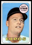 1969 Topps #230  Rusty Staub  Front Thumbnail