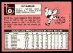 1969 Topps #35  Joe Morgan  Back Thumbnail