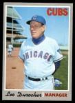 1970 Topps #291  Leo Durocher  Front Thumbnail