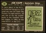 1969 Topps #35  Joe Kapp  Back Thumbnail
