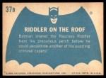 1966 Topps Batman Blue Bat Back #37 BLU  Riddler on the Roof Back Thumbnail