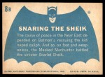 1966 Topps Batman Blue Bat Back #8 BLU  Snaring the Sheik Back Thumbnail