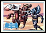 1966 Topps Batman Blue Bat Back #8 BLU  Snaring the Sheik Front Thumbnail