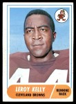 1968 Topps #206  Leroy Kelly  Front Thumbnail