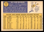 1970 Topps #22  Ray Washburn  Back Thumbnail